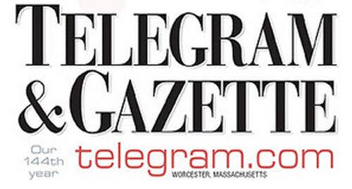 Логотип массачусетсского издания «The Telegram & Gazette» («Телеграмма и вестник»).