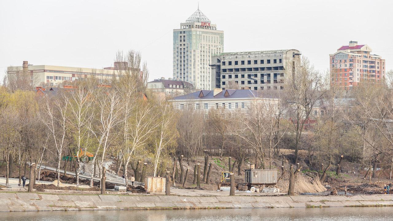 Донецк набережная кальмиуса фото высотки особенное