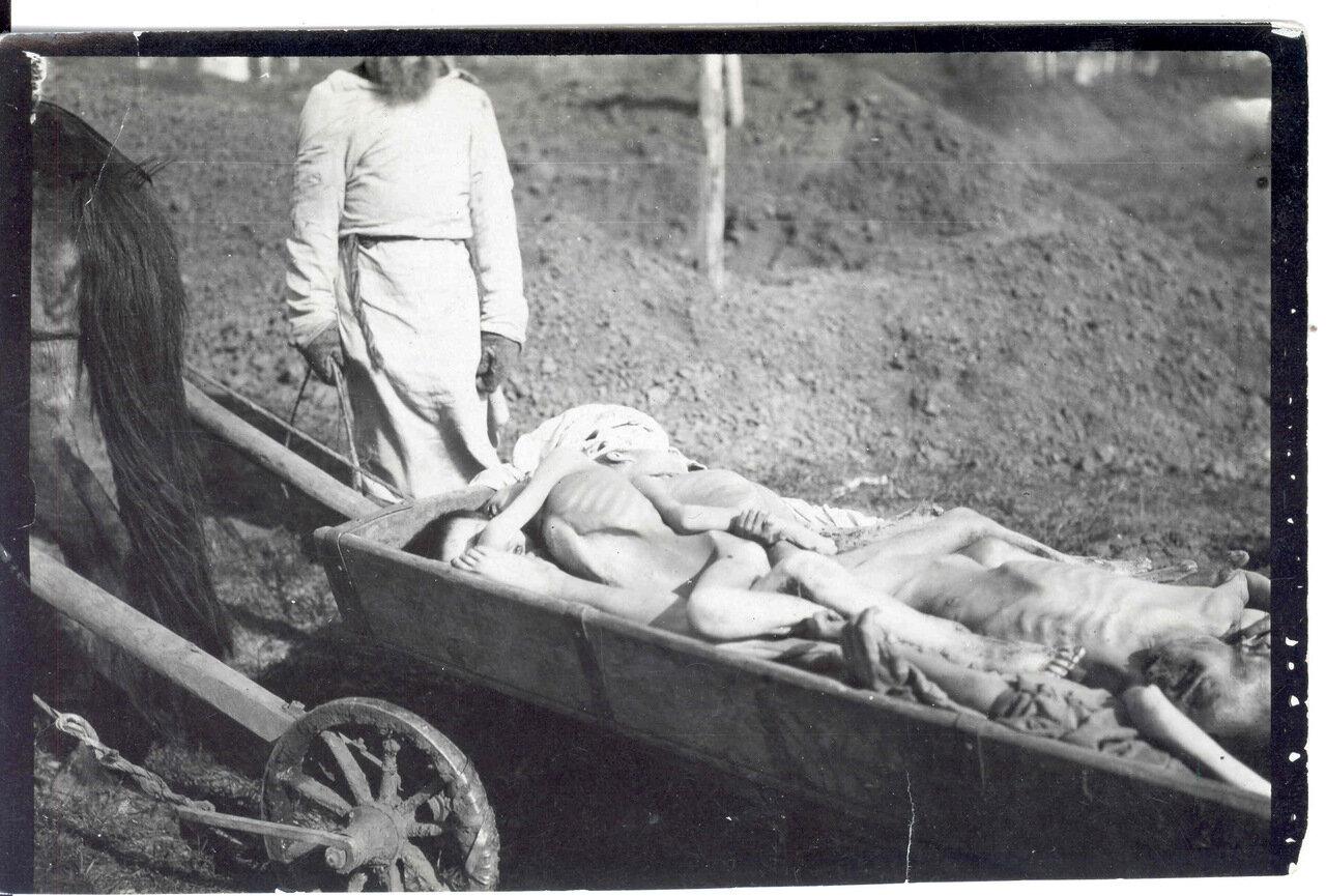 Тележка с трупами умерших от голода