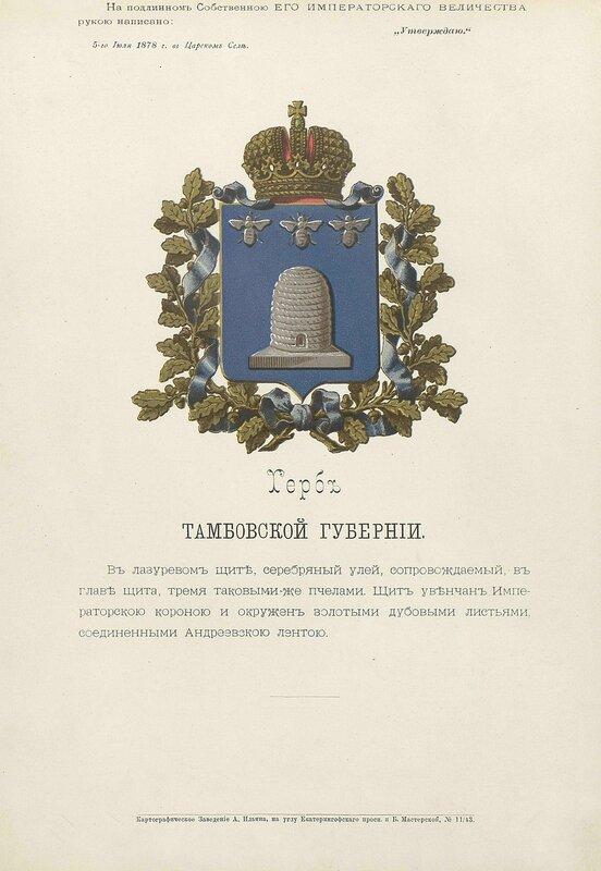 Тамбовская губерния 1880 год