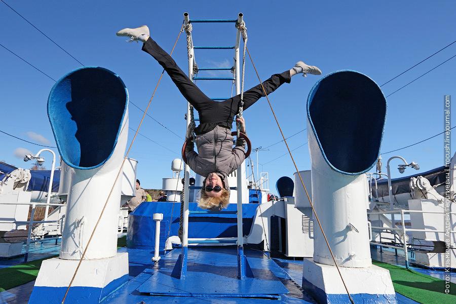 утренняя гимнастика на теплоходе Василий Чапаев