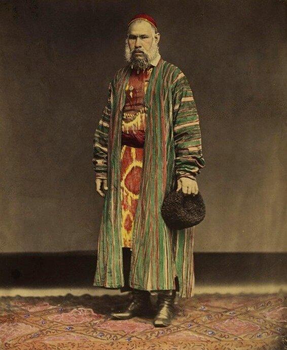 Portrait of a Tatar, 1872. Photo by Mikhail Bukar.