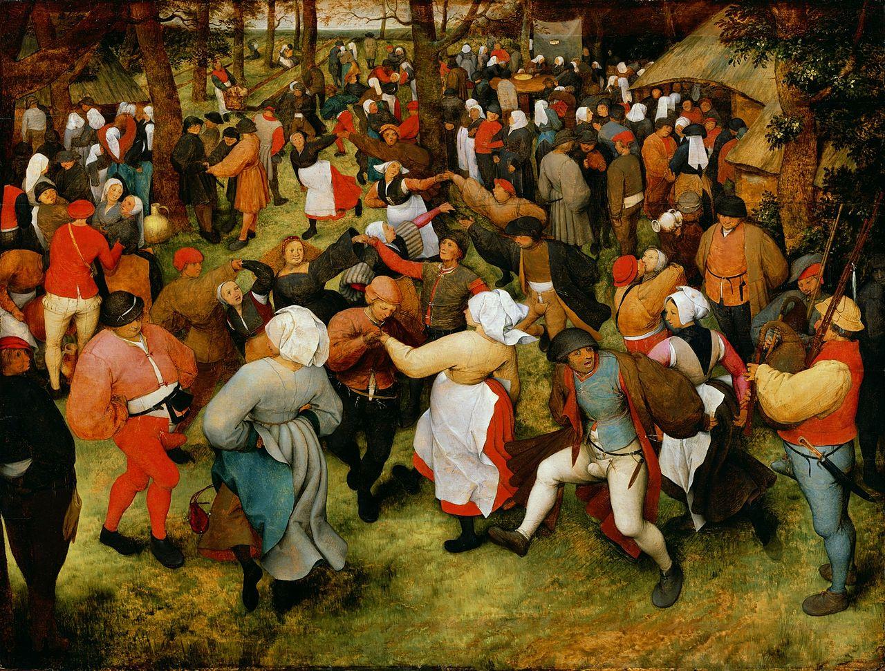 Свадебный танец около 1566, Питер Брейгель старший [мужицкий](1526/1530–1569);