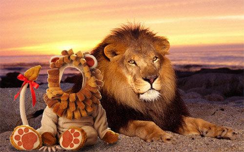 Шаблон для фотомонтажа - в костюме льва 0_c6653_11c442c2_L