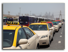 ОАЭ. Дубаи. Taxis in Dubai, United Arab Emirates. Фото Philip Lange - Depositphotos