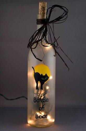 Декор на Хэллоуин - черные коты