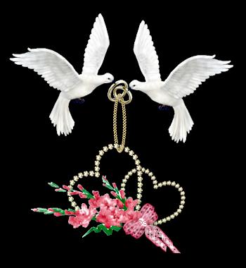 цветы и обручальные кольца картинка