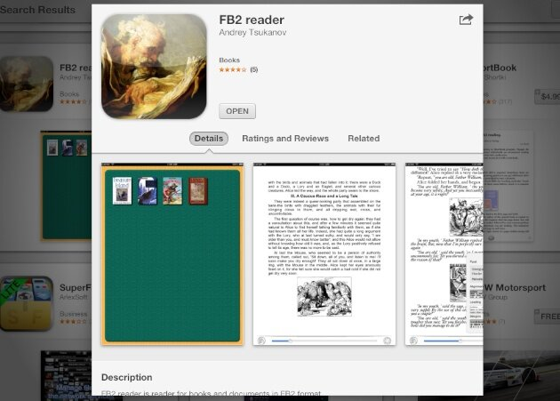 FB2 reader iPhone iPad