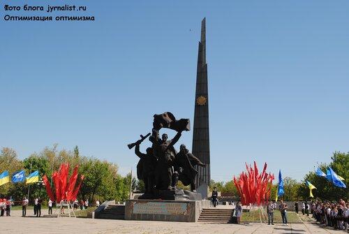 15 километровая георгиевская ленточка в луганске