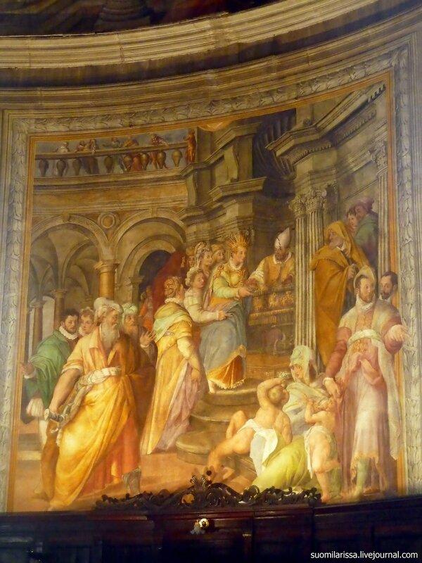 Фреска алтарной части - церковь Св. Петра в Веригах. Рим. .