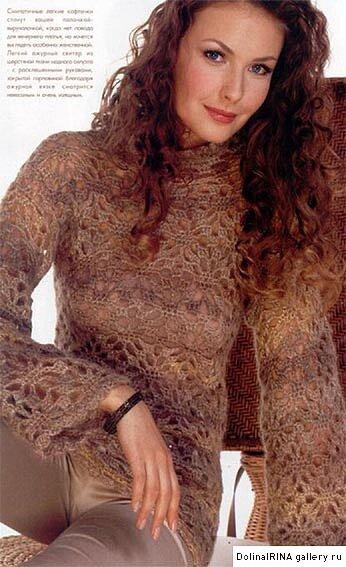 Вязание из мохера крючком для женщин оригинальные модели 86