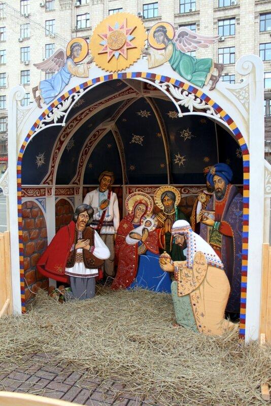 Рождественский вертеп в Киеве
