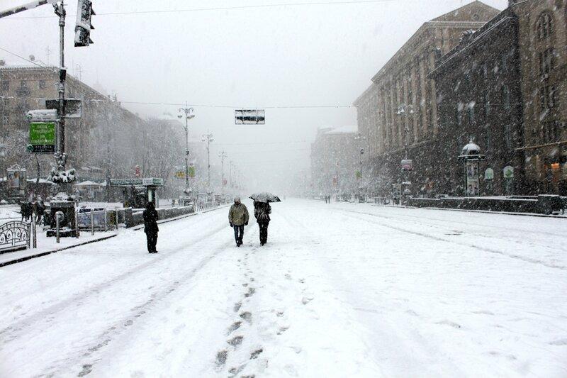 Прогулка по зимнему Крещатику