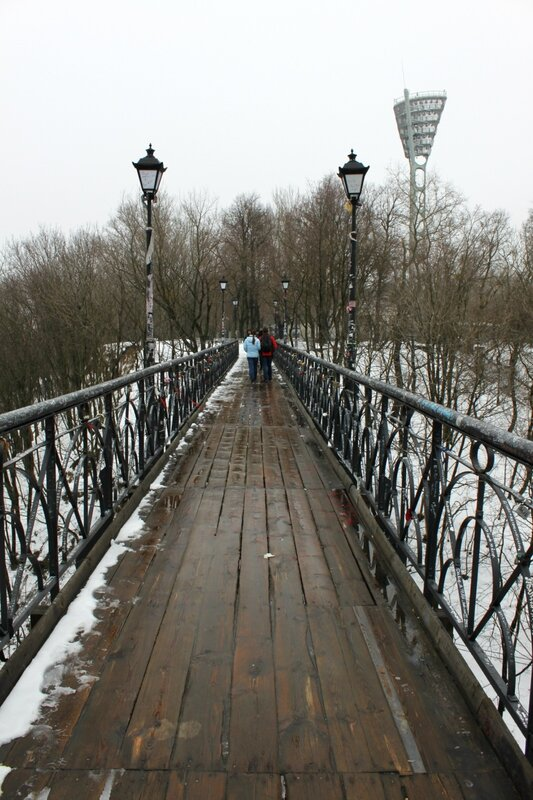 Настил Паркового мостика