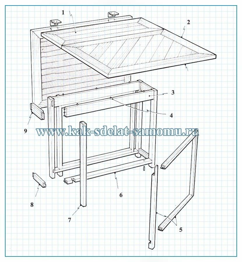 как сделать раскладной стол