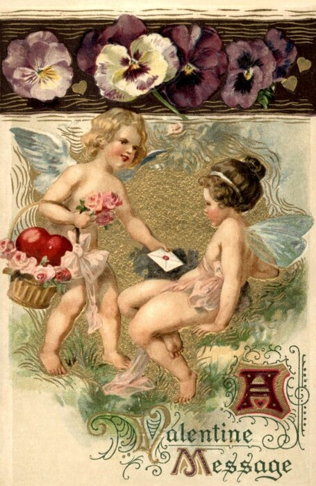 Старинные открытки с голыми