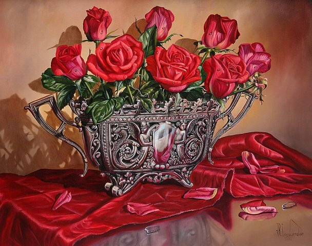 Натюрморт. Букет роз