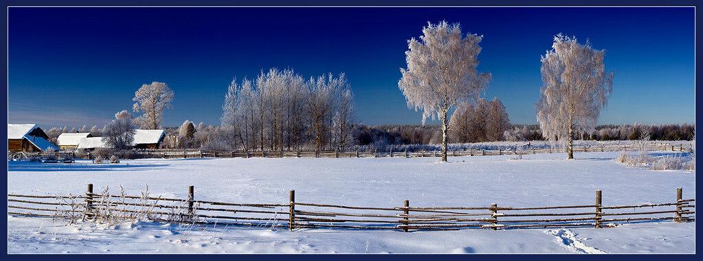 Гостила зима в деревне...jpg