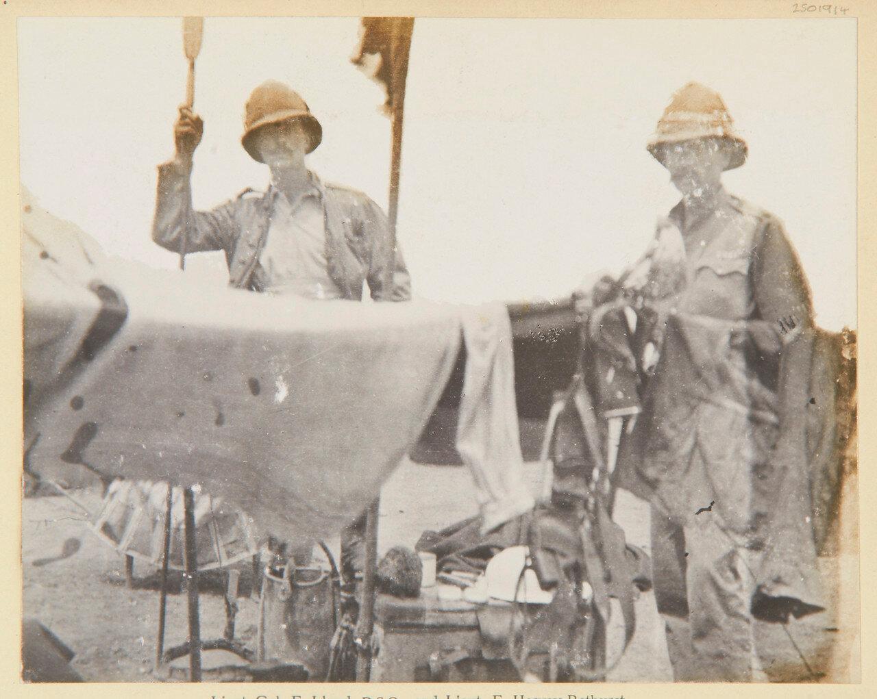 Подполковник Ф. Ллойд и лейтенант Ф. Херви-Батерст, гвадейский гренадерский полк