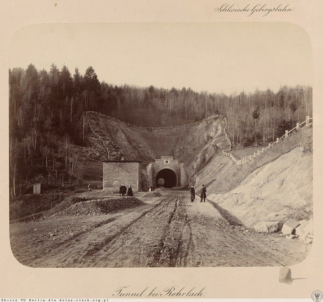 Однопутейный туннель между Вояновым и Тржчинском, 1865