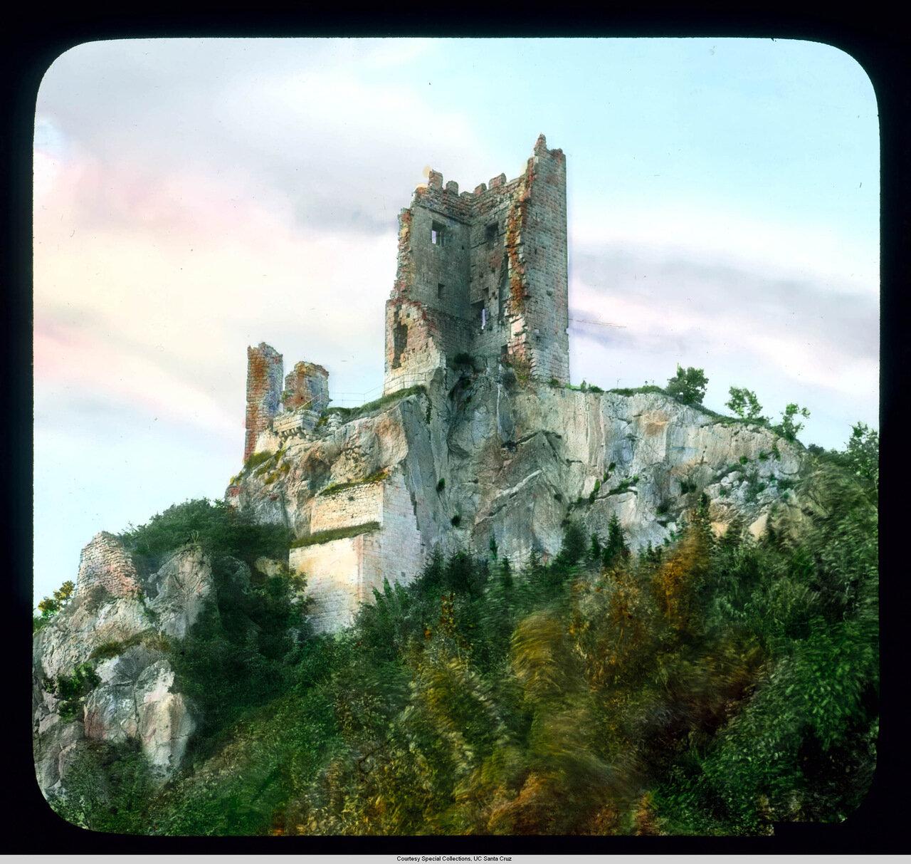 Рейнская долина. Руины крепости Драхенфельс (Пфальц)