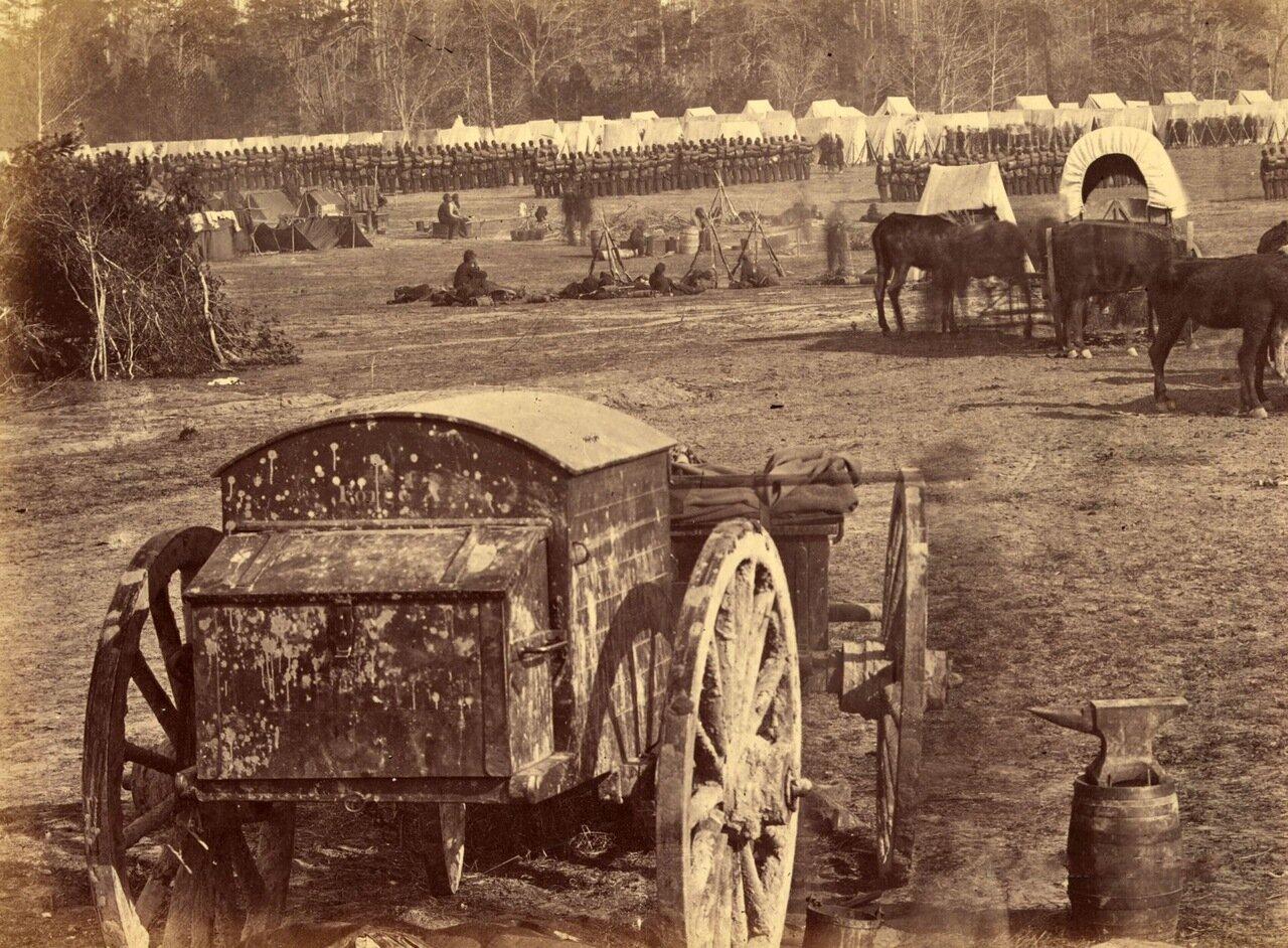Лагерь в Камберленд-Лендинг. Река Паманки, Вирджиния. Май 1862 г.
