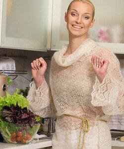 Мохеровая рубаха спицами из гардероба балерины