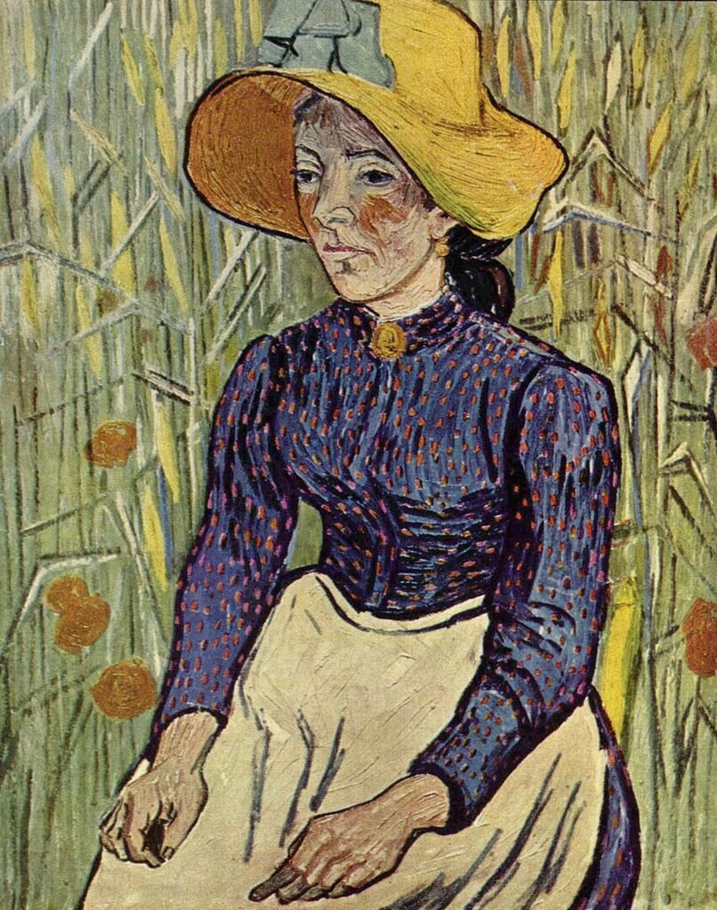 Peasant Woman Against a Background of Wheat, June 1890_Vincent van Gogh(1853-1890);