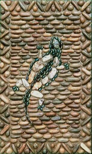 Мозаика из гальки своими руками