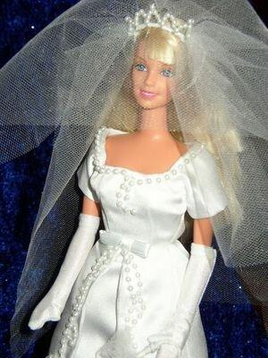 Свадебные платья для кукол своими руками