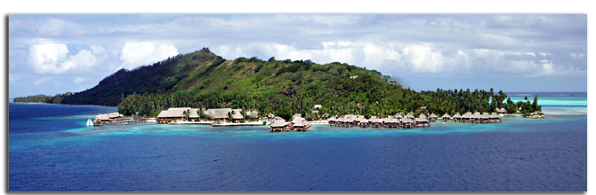 Французская Полинезия. Resort at Bora Bora Фото Neale Cousland - shutterstock