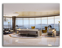 ОАЭ. Дубаи. Le Meridien Mina Seyahi Beach Resort & Marina. Royal Suite - Lounge - rendering
