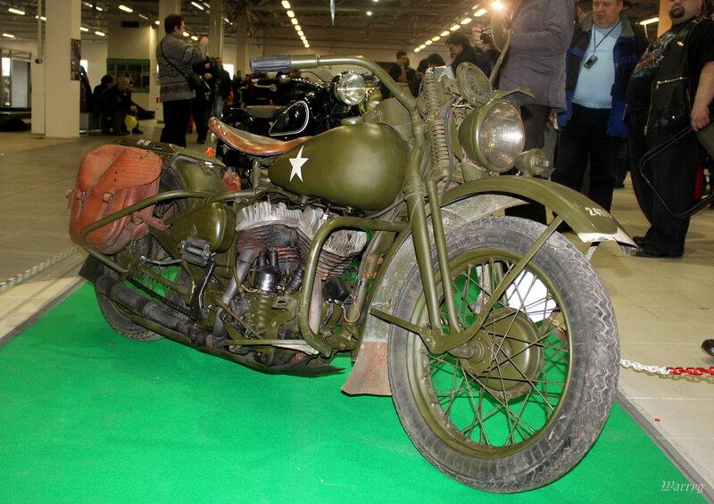 Американский армейский мотоцикл Harley-Davidson WLA
