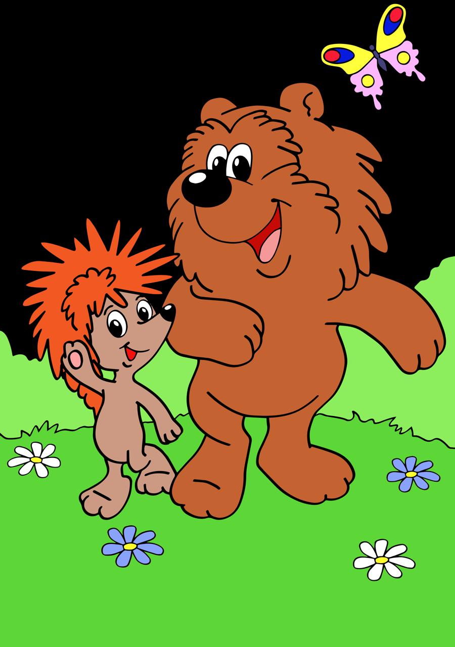 Ежик и медвежонок картинки из мультфильма, мышонок картинки