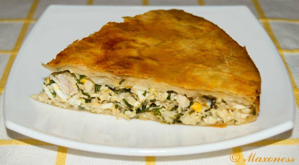 Котопита (греческий пирог с курицей и сыром). Греческая кухня