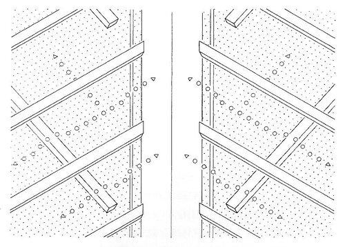 Верхний воздушный зазор у ендовы; обрешетка / контробрешетка и брусок ендовы