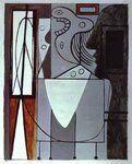 Pablo Picasso. Silhouette of Picasso and Young Girl Crying. 1940.jpg