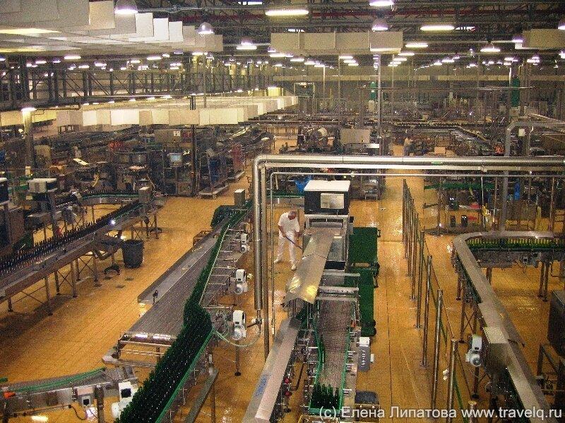 Разливочный цех, конвейер Pilsner Urquell