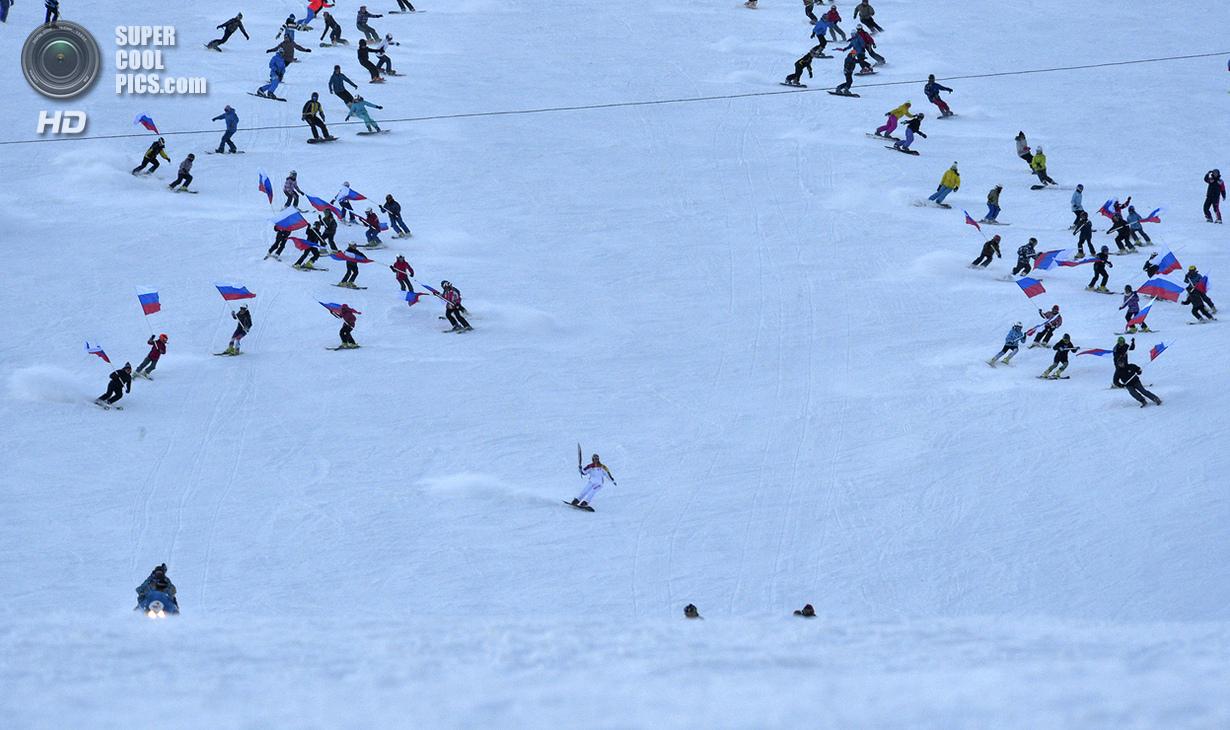 Россия. Кемеровская область. 29 ноября. Участница Олимпийских игр 2006 года сноубордистка Ольга