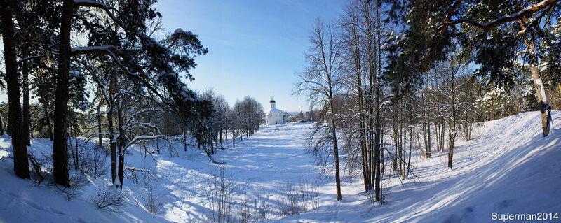 Звенигород - вид на Успенский собор на Городке