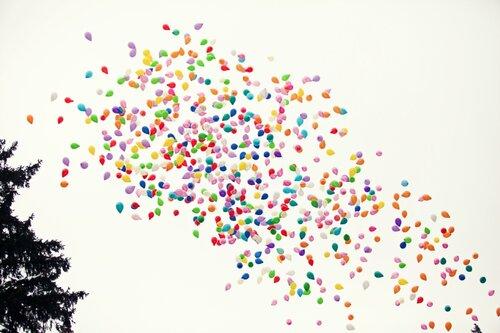 запуск 1000 шаров в небо