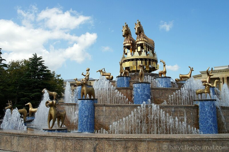 Новый фонтан в центре Кутаиси
