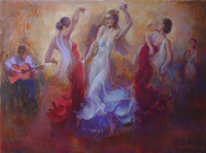 Она танцевала… изящно и тихо. Художник Густаво Пухальте (Gustavo Pujalte)