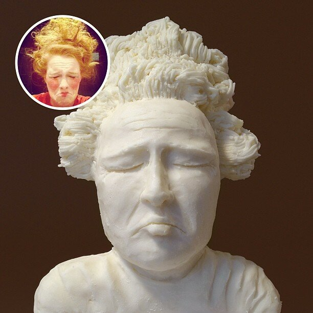 Скульптуры из печенек и крема