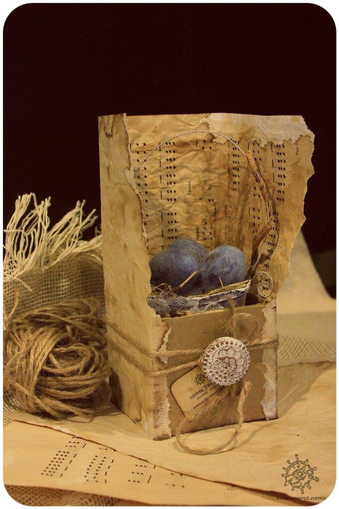 Упаковка подарка винтаж 57