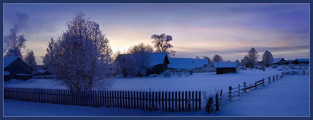 Затопило печи село... Зима в России. Январь. -25 Два кадра..jpg