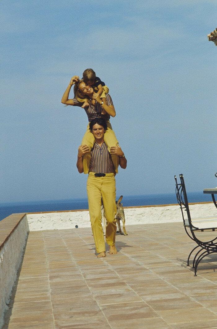 1966. С Натали и Энтони в Сен-Тропе