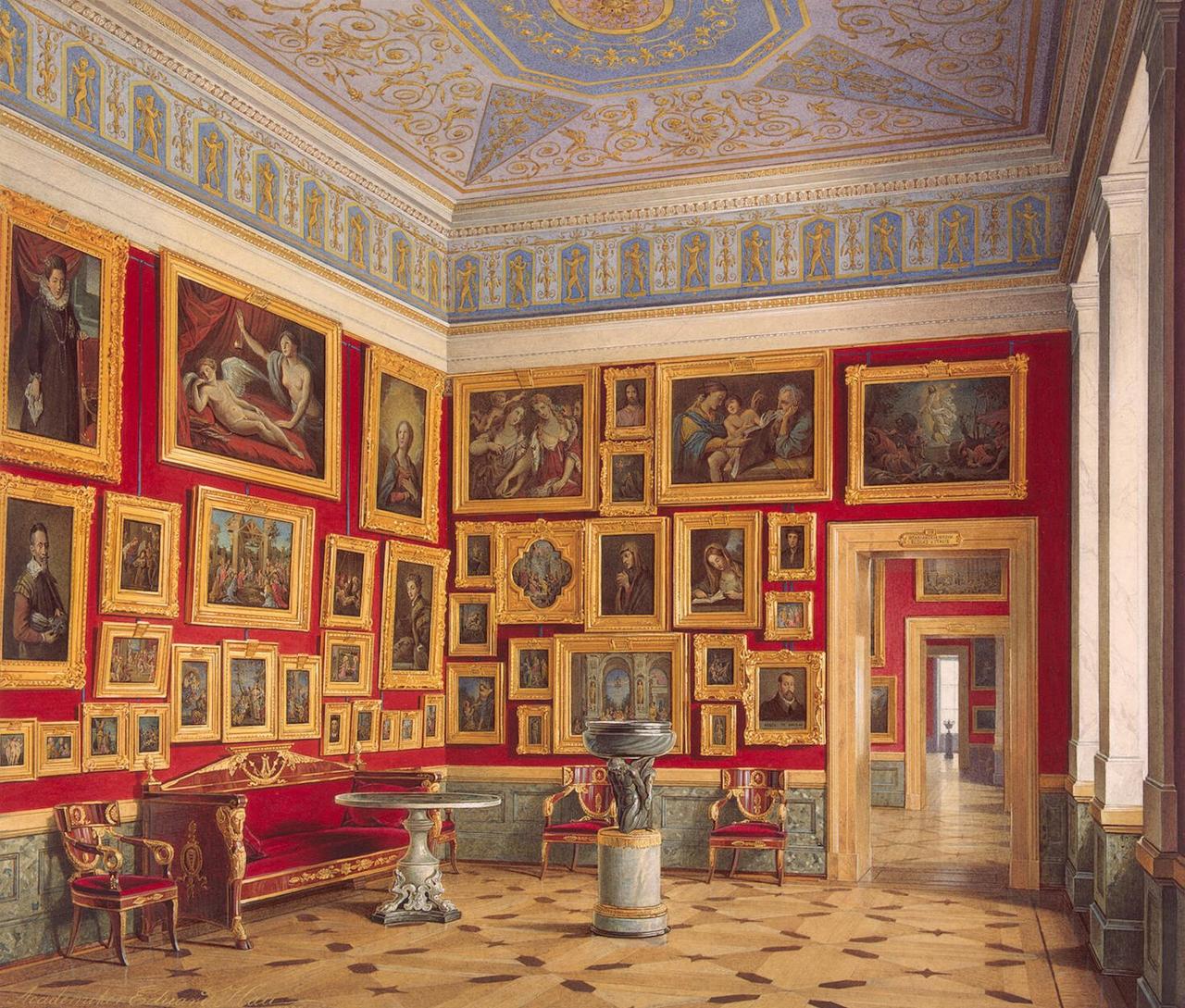 Интерьеры Нового Эрмитажа. Зал итальянского искусства