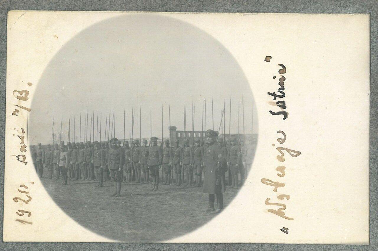 Bолчья сотня - Wolczaja sotnja Булак-Балаховича. Снимок сделан в 1920г. в Бресте