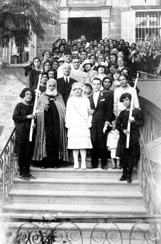 Свадьба Иеранухи Кеворкяна, сироты из детского дома в Бейруте